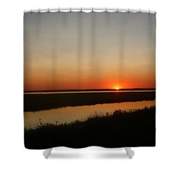 Ending Of A Day Shower Curtain by James Petersen