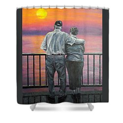 Shower Curtain featuring the painting Endless Love by Susan DeLain