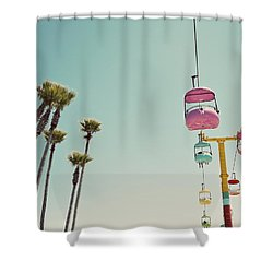 Endless Summer - Santa Cruz, California Shower Curtain