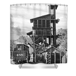 Engine 488 At The Tipple Shower Curtain by Shelly Gunderson