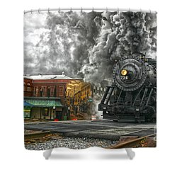 Engine 734 On The Western Maryland Scenic Railroad  Shower Curtain by Jeannette Hunt