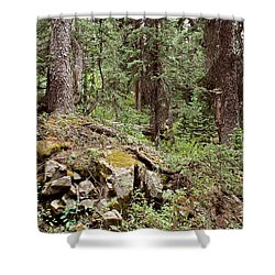 Engineer Pass In Colorado  Shower Curtain by Brett Pfister