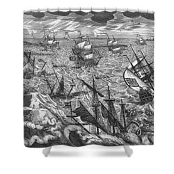 England S Great Storm Shower Curtain by English School