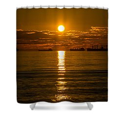 English Bay Vancouver I Shower Curtain by Sabine Edrissi