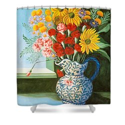 English Bouquet Shower Curtain