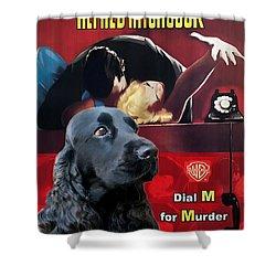 English Cocker Spaniel Art - Dial M For Murder Shower Curtain