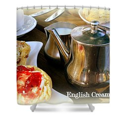 English Cream Tea Shower Curtain