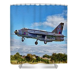 English Electric Lightning Shower Curtain