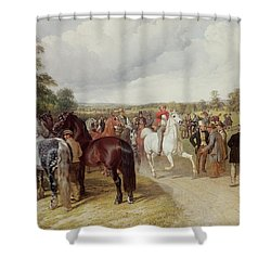English Horse Fair On Southborough Common Shower Curtain by John Frederick Herring Snr