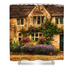 English Stone Cottage Shower Curtain