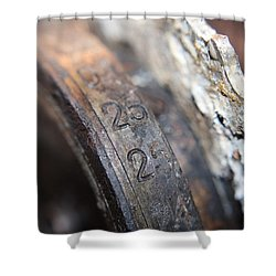 Enigma Rotor Shower Curtain