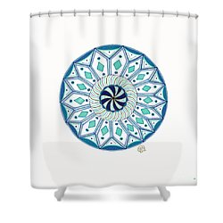 Enjoy The Breath Of Life Shower Curtain by Signe  Beatrice