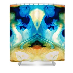 Enlightenment - Abstract Art By Sharon Cummings Shower Curtain by Sharon Cummings