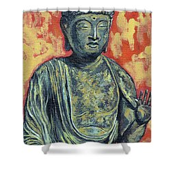 Enlightenment Shower Curtain by Tom Roderick