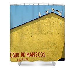 Ensenada Harbour Fish Market 33 Shower Curtain