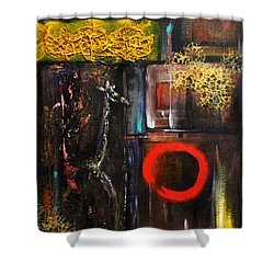 Shower Curtain featuring the painting Enso Abstract by Patricia Lintner