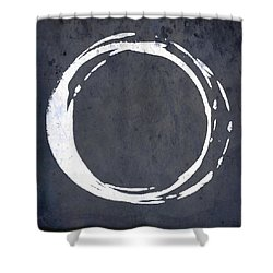 Enso No. 107 Blue Shower Curtain
