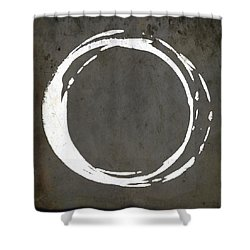Enso No. 107 Gray Brown Shower Curtain