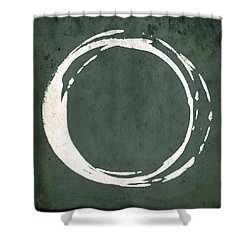Enso No. 107 Green Shower Curtain