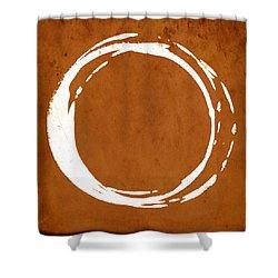 Enso No. 107 Orange Shower Curtain