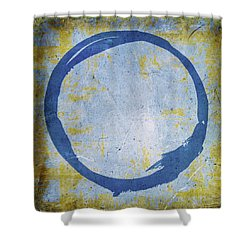 Enso No. 109 Blue On Blue Shower Curtain