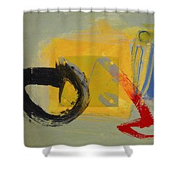 Enso Sun Block Shower Curtain by Cliff Spohn
