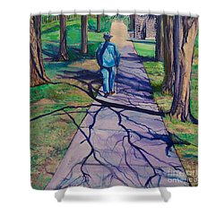Entanglement On Highway 98' Shower Curtain by Ecinja Art Works