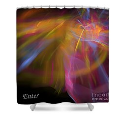Enter Shower Curtain by Margie Chapman
