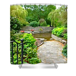 Enter The Garden Shower Curtain by Charlie and Norma Brock