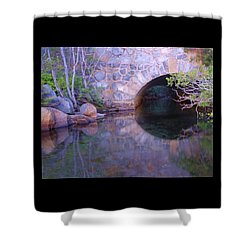 Enter The Tunnel Of Love  Shower Curtain by Sean Sarsfield