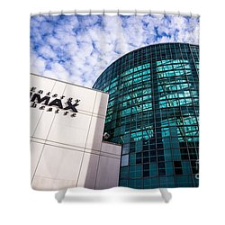 Entergy Imax Theatre In New Orleans Shower Curtain by Paul Velgos