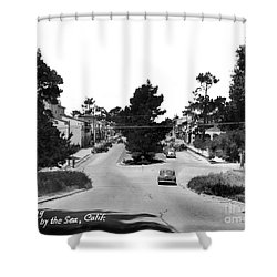 Entering Carmel By The Sea Calif. Circa 1945 Shower Curtain
