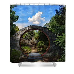Entering The Garden Gate Shower Curtain