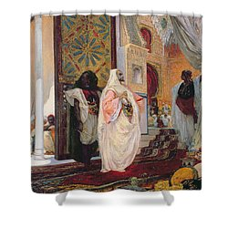 Entering The Harem Shower Curtain by Georges Clairin