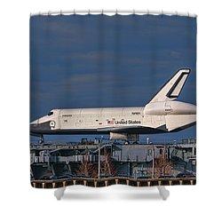 Enterprise At The Intrepid Shower Curtain by S Paul Sahm