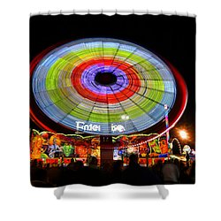 Enterprise On The Midway Shower Curtain by David Lee Thompson