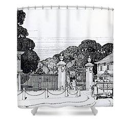 Entrance To Brooklandwood Shower Curtain by Thomas Hayton Mawson