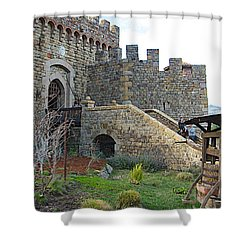 Entrance To Castello Di Amorosa In Napa Valley-ca Shower Curtain