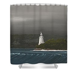 Entrance To Macquarie Harbour - Tasmania Shower Curtain by Tim Mullaney