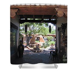 Shower Curtain featuring the photograph Entrance To Market Place by Dora Sofia Caputo Photographic Art and Design