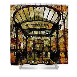 Entrance To The Paris Metro Shower Curtain