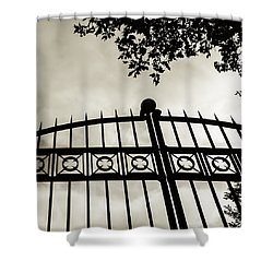 Entrances To Exits - Gates Shower Curtain