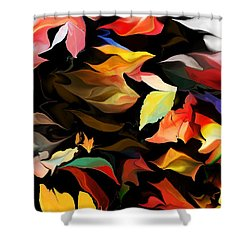 Shower Curtain featuring the digital art Entropic Dance Of The Salamander First Snow.  by David Lane