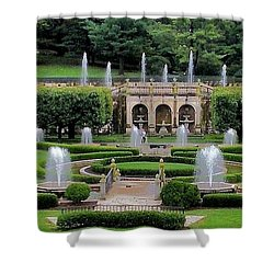 Entry Fountains At Longwood Gardens Shower Curtain by Kim Bemis