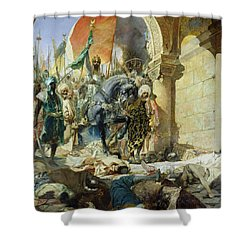 Entry Of The Turks Of Mohammed II Shower Curtain by Benjamin Constant