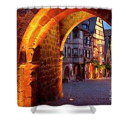 Entry To Riquewihr Shower Curtain by Brian Jannsen