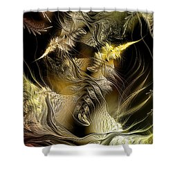 Shower Curtain featuring the digital art Environmental Transitions 5 by Casey Kotas