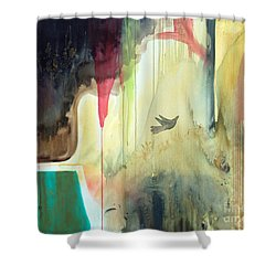 Shower Curtain featuring the painting Envisage by Robin Maria Pedrero