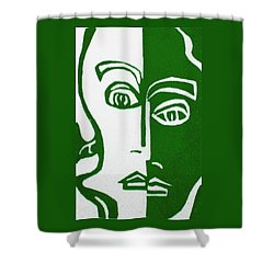 Shower Curtain featuring the painting Envy by Donna Tucker