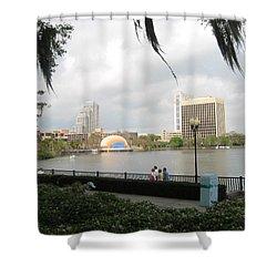 Eola Park In Orlando Shower Curtain